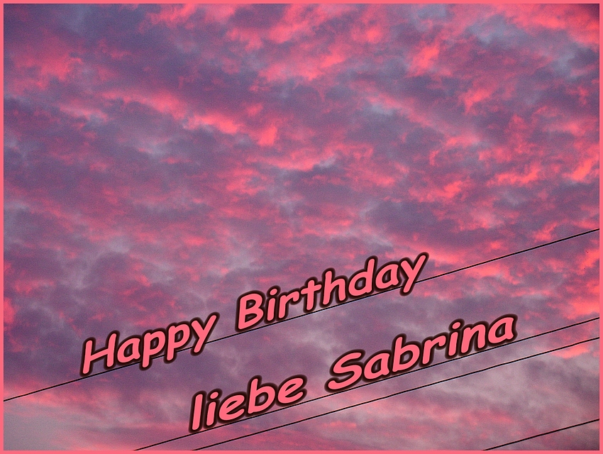 Sabrina hat Geburtstag