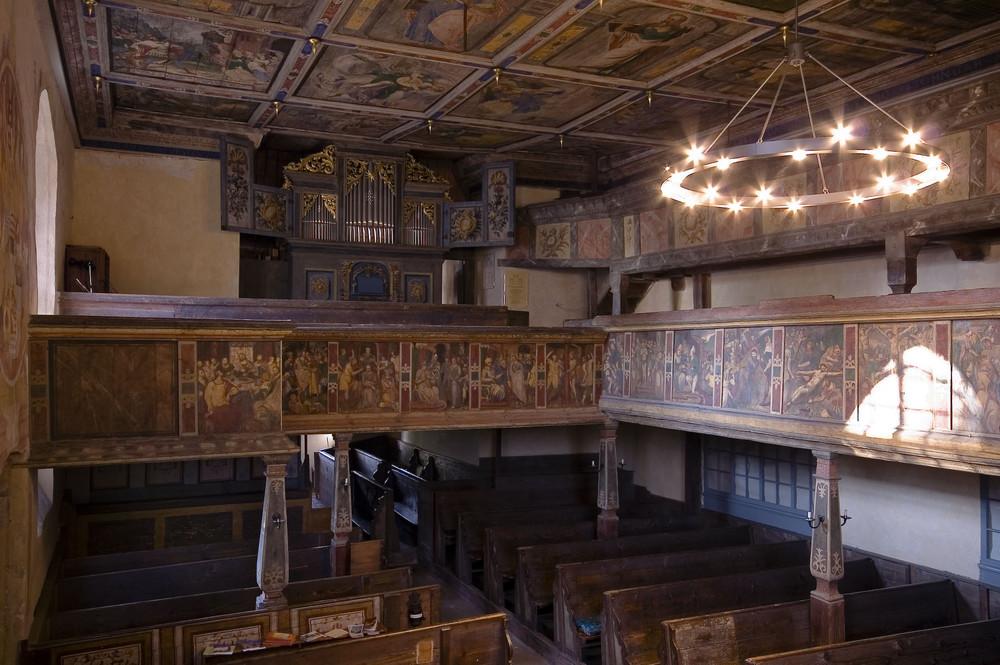 Sachsen - Alte Kirche Coswig, Innenraum