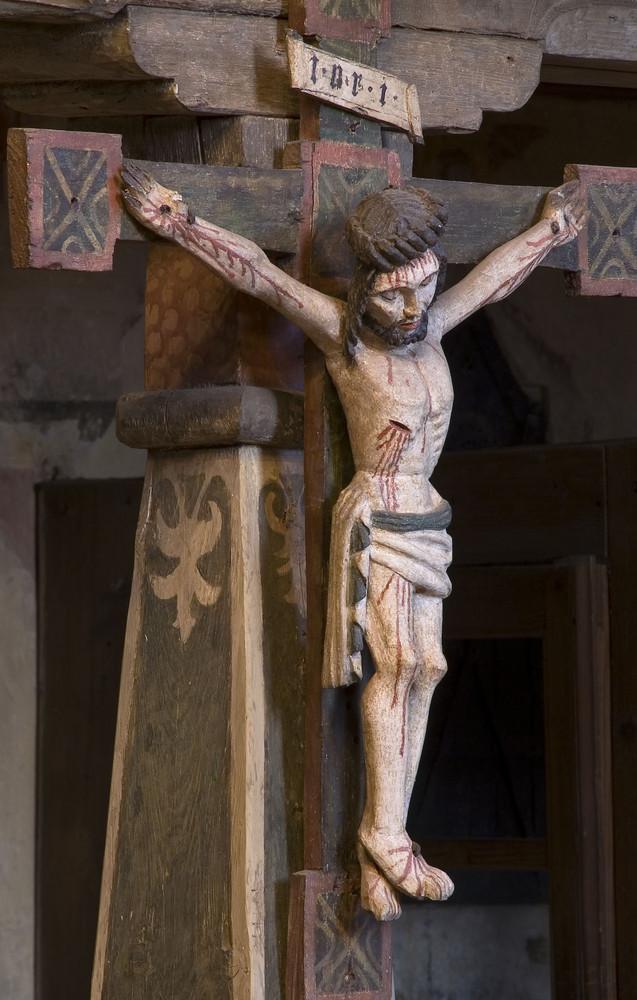 Sachsen - Alte Kirche Coswig, spätgotisches Kruzifix