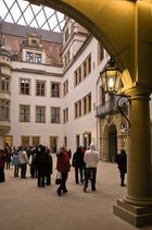 Sachsen - Dresden Residenzschloß; Innenhof mit neuer Überdachung 2