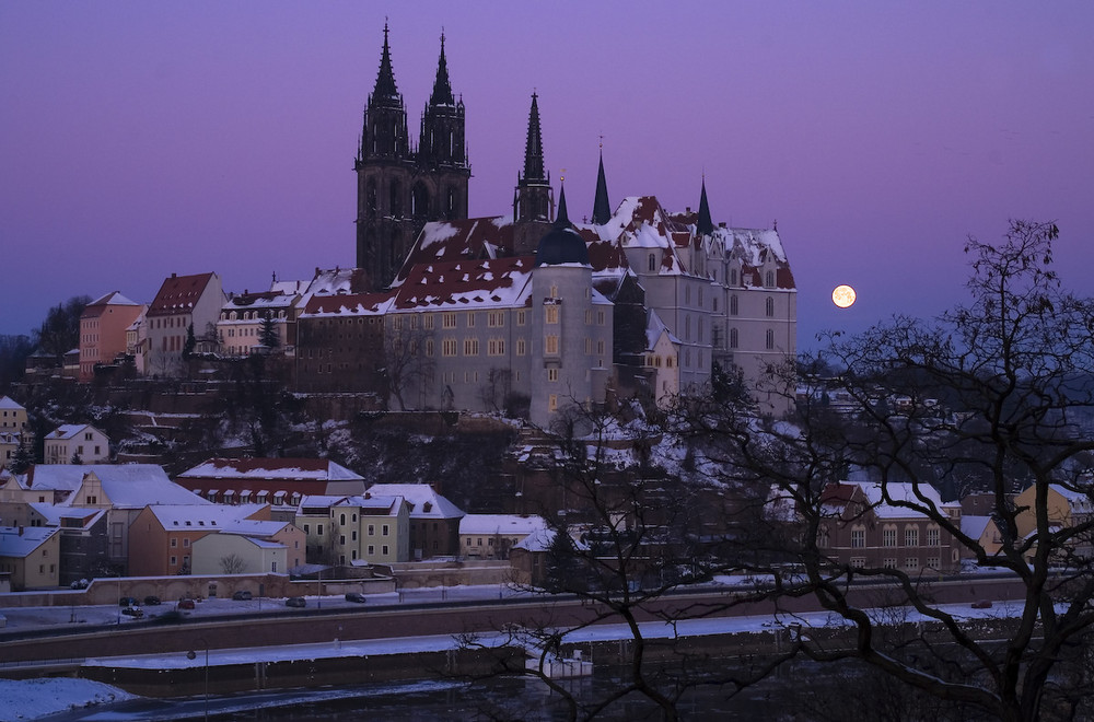 Sachsen - Meissen, Albrechtsburg mit Dom ...