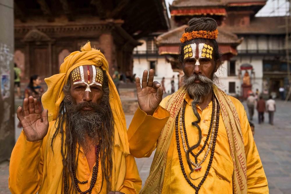 Sadhus in Kathmandu - NEPAL