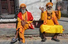 Sadhus in Pashupatinath
