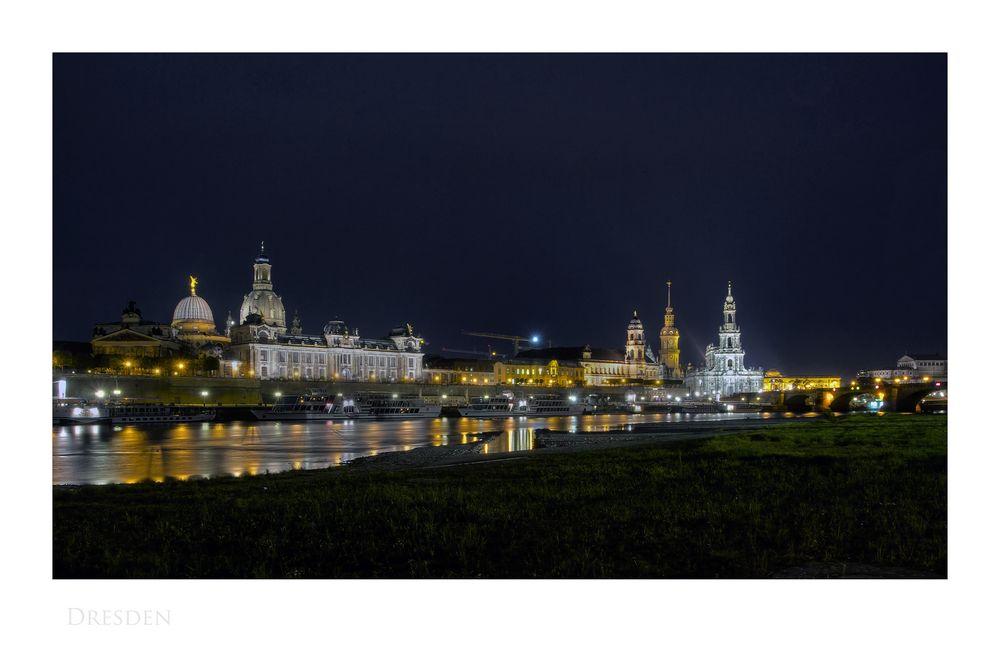 """Sächsische Impressionen """" Dresden, bei Nacht """""""