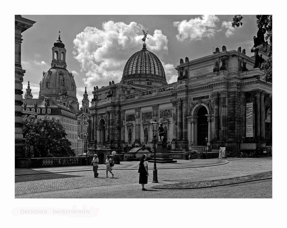 """Sächsische Impressionen """" Dresden - Blick auf die Frauenkirche """""""