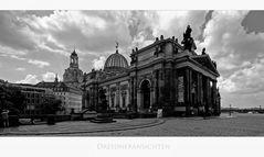 """Sächsische Impressionen """" Dresden - Blick, auf die Frauenkirche und der Akademie der Künste """" """""""