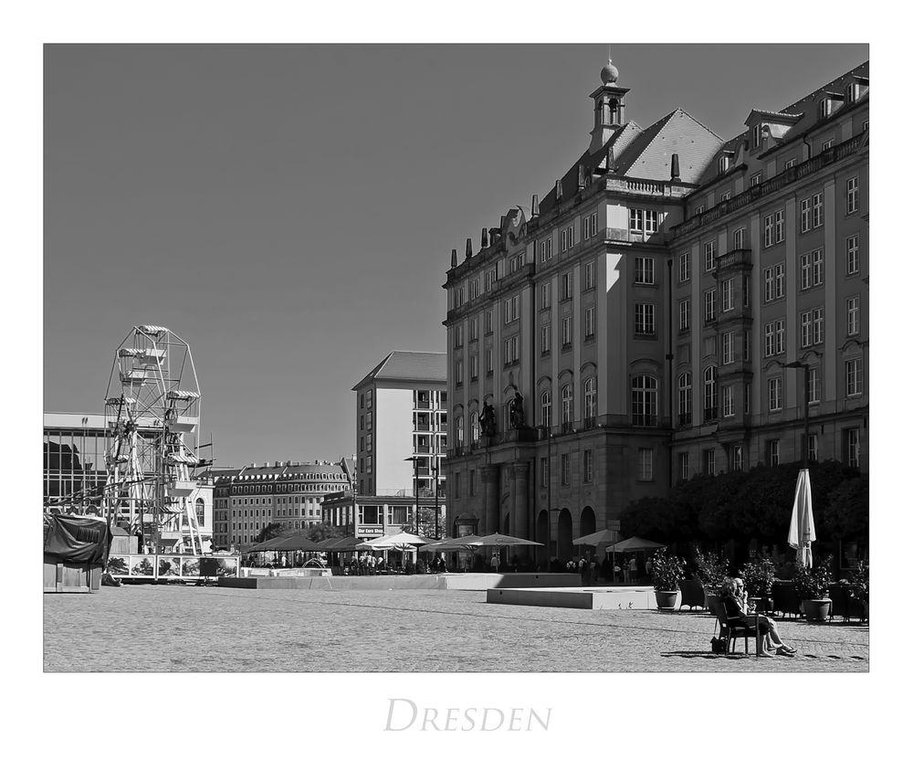 """Sächsische Impressionen """" Dresden - Blick vom Altmarkt..."""""""