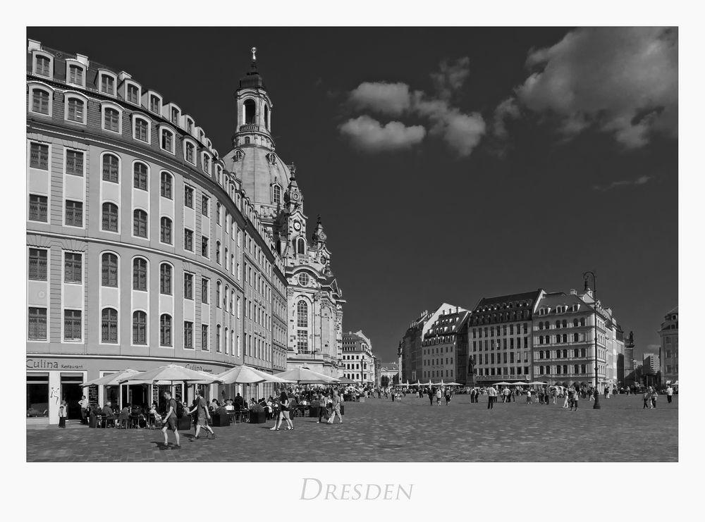"""Sächsische Impressionen """" Dresden -  Blick vom Neumarkt.. """""""