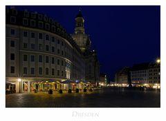 """Sächsische Impressionen """" Dresden - Blick vom Neumarkt, beim Nacht.. """""""