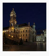 """Sächsische Impressionen """" Dresden - Blick zum Ständehaus, bei Nacht... """""""
