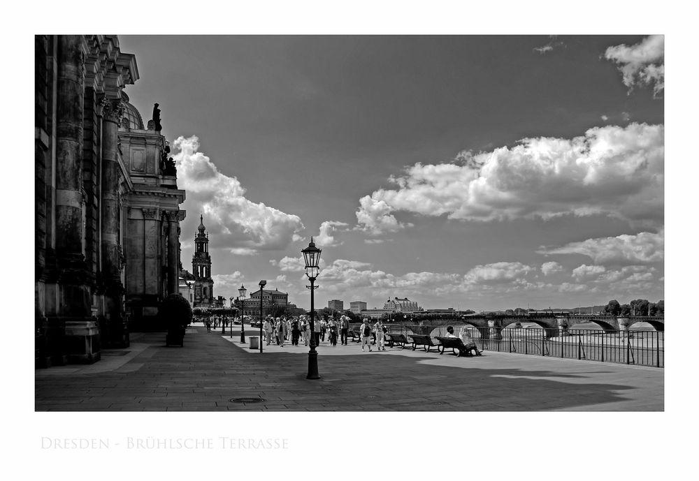 """Sächsische Impressionen """" Dresden - Brühlsche Terrasse """""""