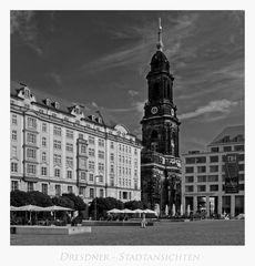 """Sächsische Impressionen """" Dresden - der Altmarkt, mit blick zur Kreuzkirche...."""