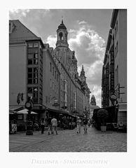 """Sächsische Impressionen """" Dresden - der Blick auf die Frauenkirche, aus meiner Sicht... """""""
