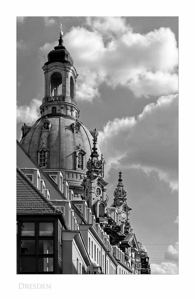 """Sächsische Impressionen """" Dresden - der Blick, zur Frauenkirche aus meiner Sicht """""""