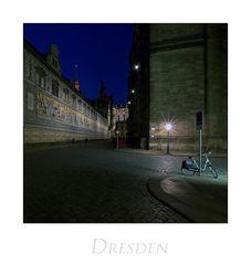 """Sächsische Impressionen """" Dresden - der Fürstenzug und das Fahrrad..."""""""