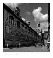 """Sächsische Impressionen """" Dresden - Fürstenzug """""""
