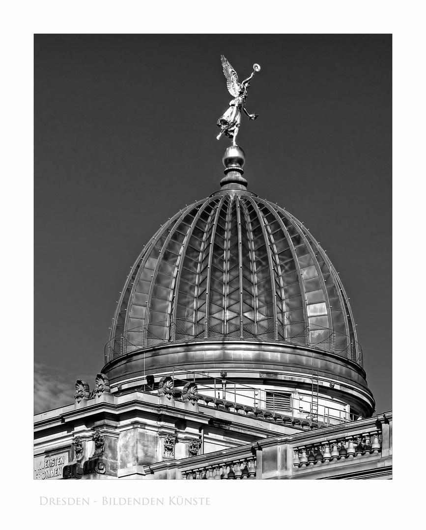 """Sächsische Impressionen """" Dresden - Kuppel, der Hochschule für Bildende Künste """" """""""