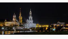 """Sächsische Impressionen """" Dresden - Skyline bei Nacht """""""