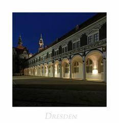 """Sächsische Impressionen """" Dresden - Stallhof, bei Nacht..."""""""