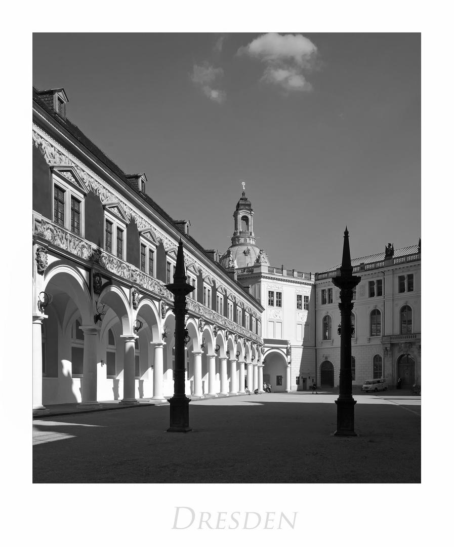 """Sächsische Impressionen """" Dresden - Stallhof, im Licht und Schatten..."""""""
