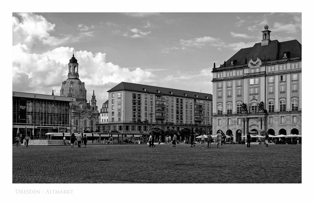 """Sächsische Impressionen """" Dresdner - Altmarkt """""""