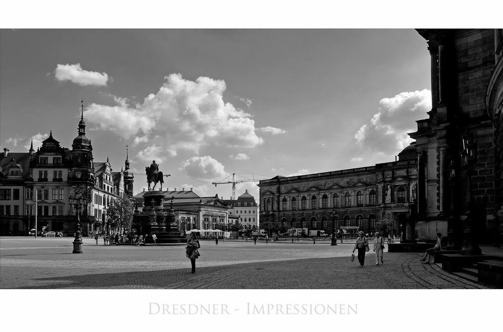 """Sächsische Impressionen """" Dresdner - Blick vom Theaterplatz """""""