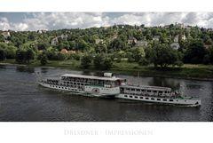 """Sächsische Impressionen """" Dresdner-Dampfschiff """""""