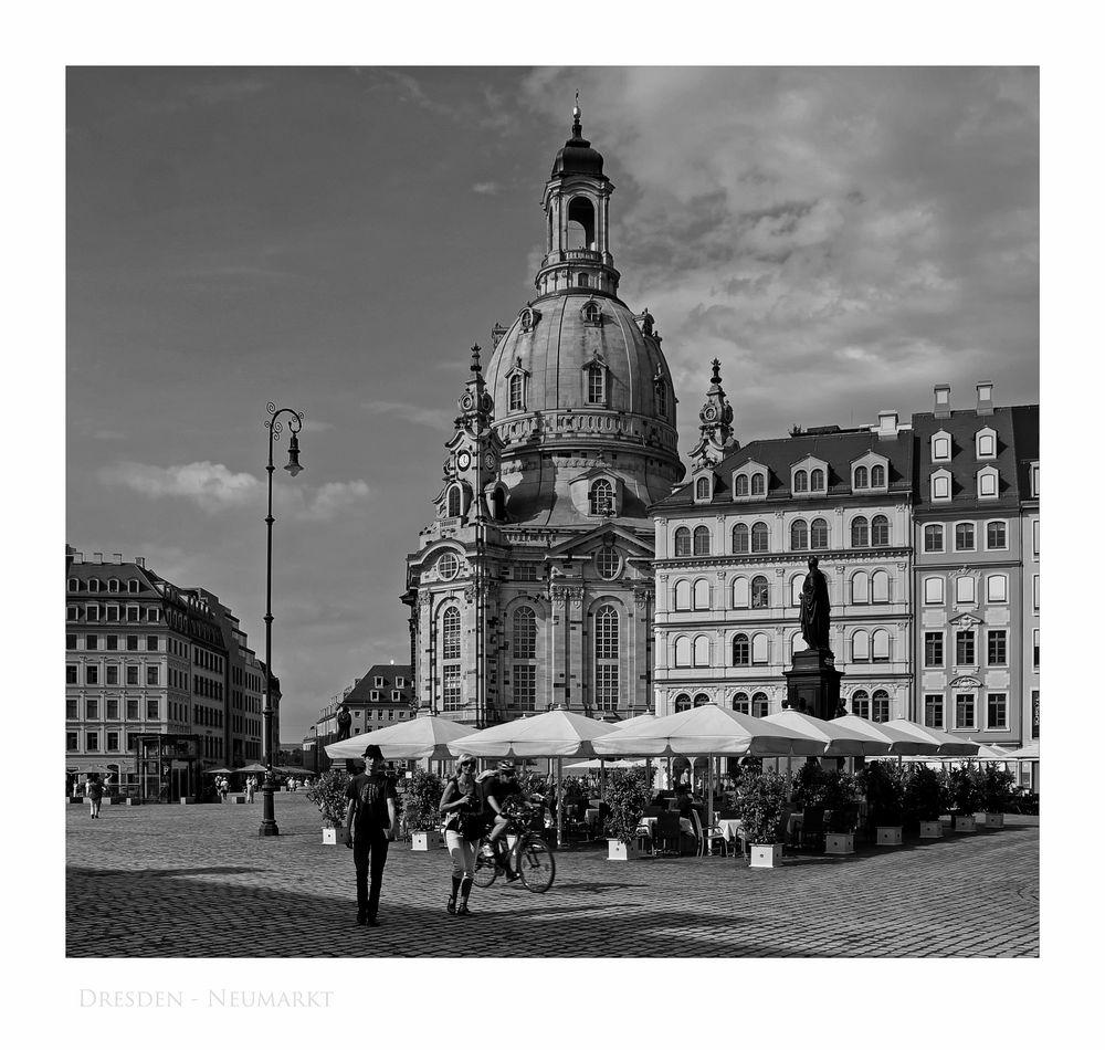 """Sächsische Impressionen """" Dresdner - Neumarkt """""""