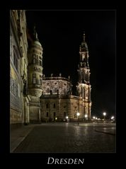 """Sächsische Impressionen """" Dresdner - Stadtansichten, bei Nacht******.... """""""