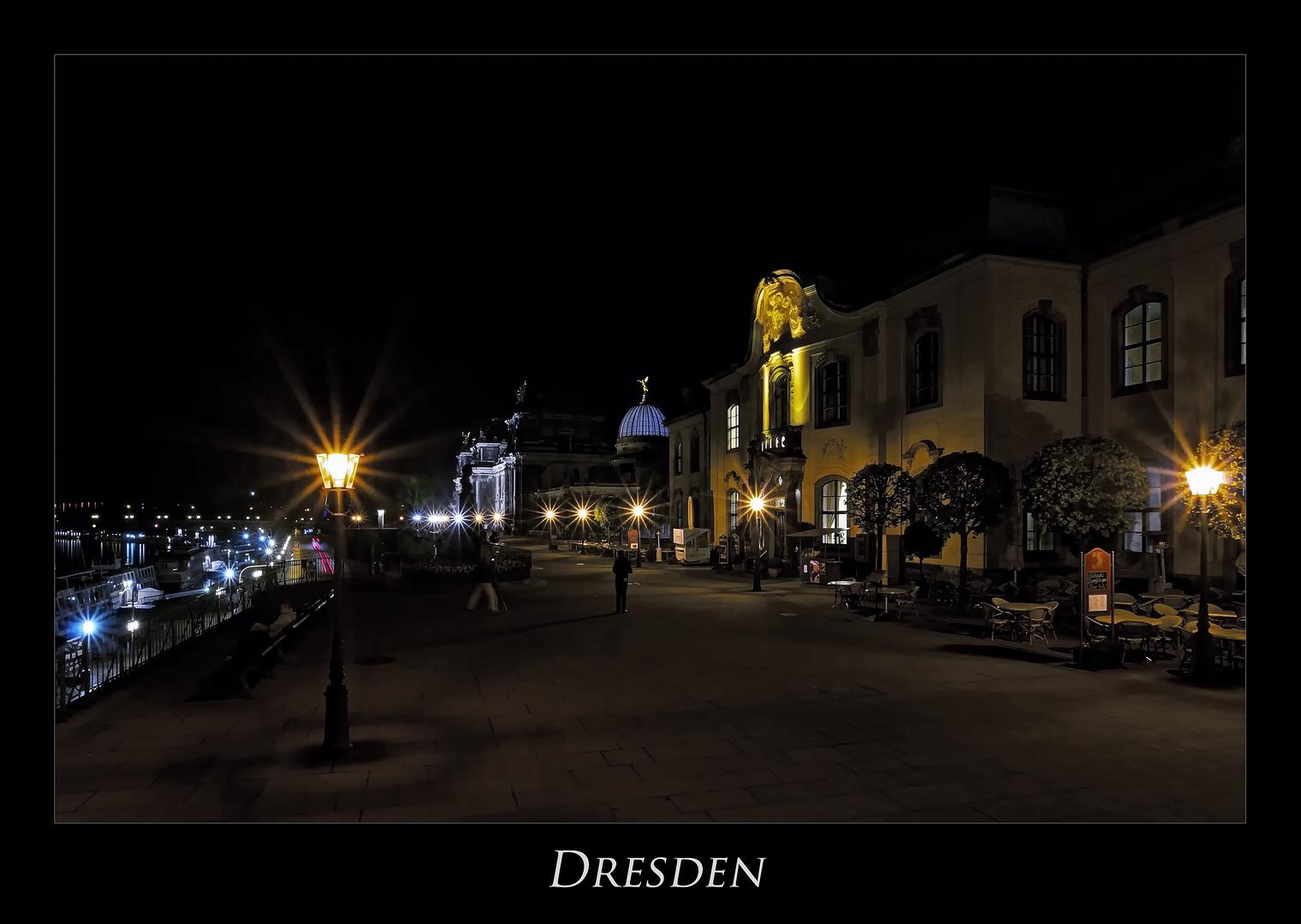 """Sächsische Impressionen """" Dresdner - Stadtansichten, bei Nacht.... """""""