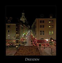 """Sächsische Impressionen """" Dresdner - Stadtansichten, bei Nacht*****.... """""""