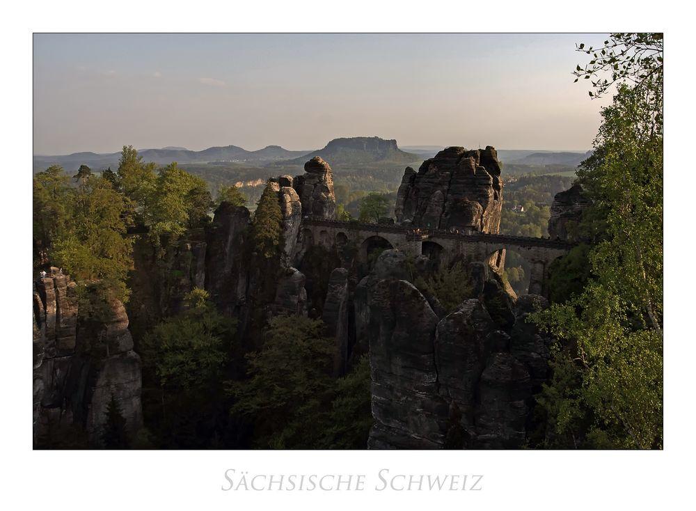 """Sächsische Impressionen """" Elbsandsteingebirge - Blick zur Bastei..."""""""