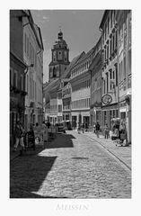 """Sächsische Impressionen """" Meißen - Blick, auf die Frauenkirche... """""""