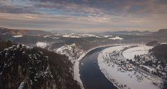 Sächsische Schweiz Bastei im Winter