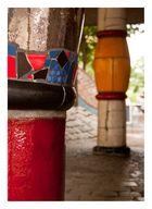 Säulen am Hundertwasserhaus