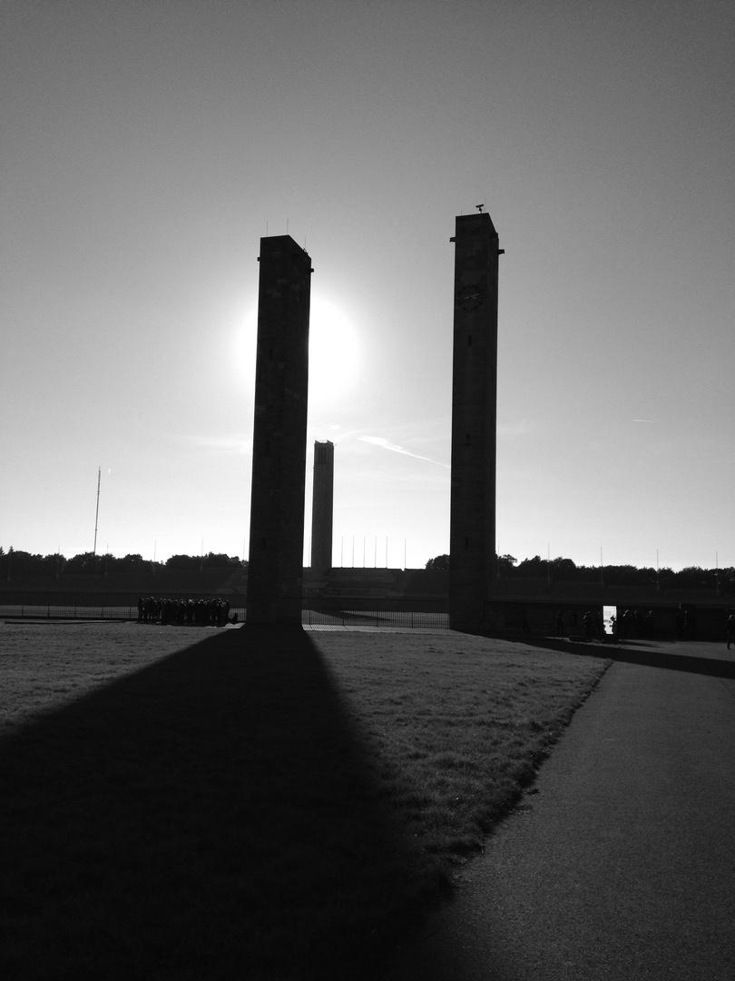 Säulen am Olympiastadion