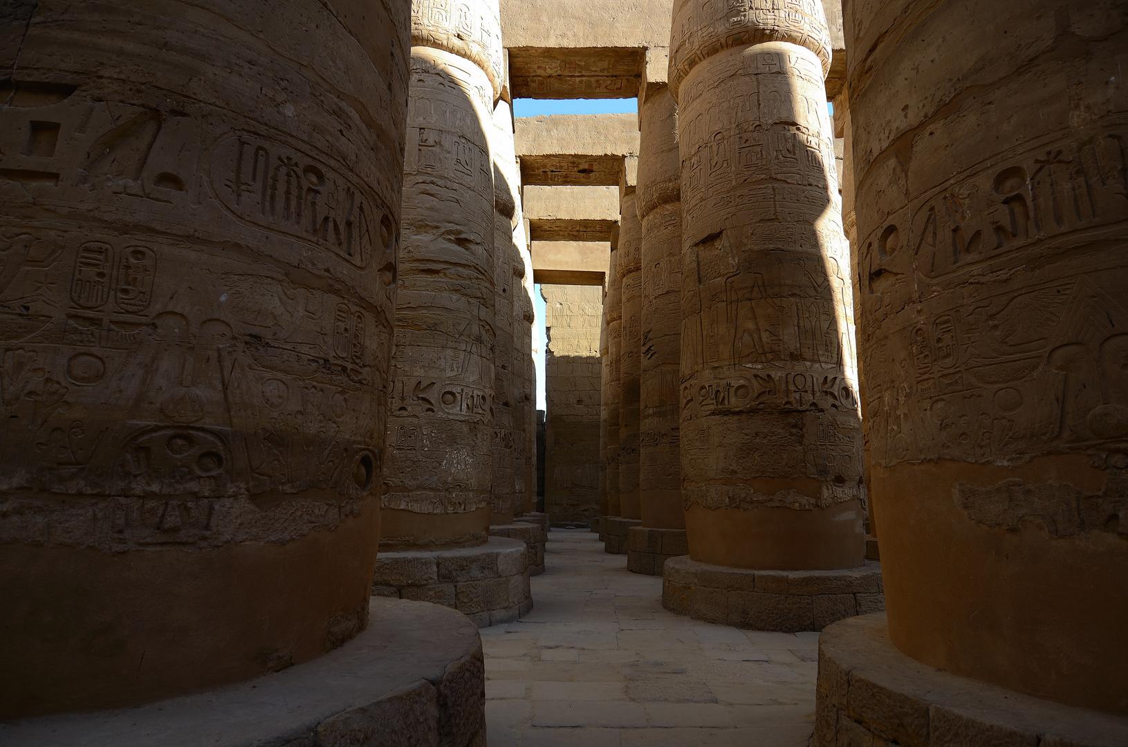 Säulen des Hypostyls [Karnak-Tempel]