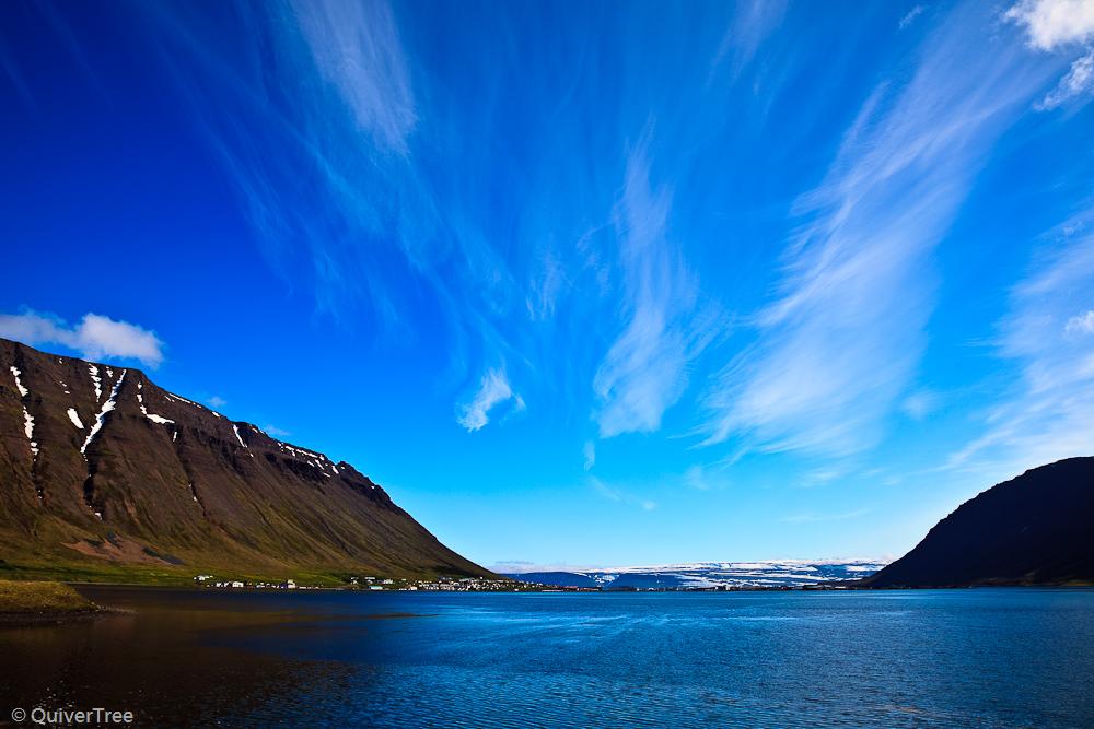 Ísafjörður, Westfjorde, Island.