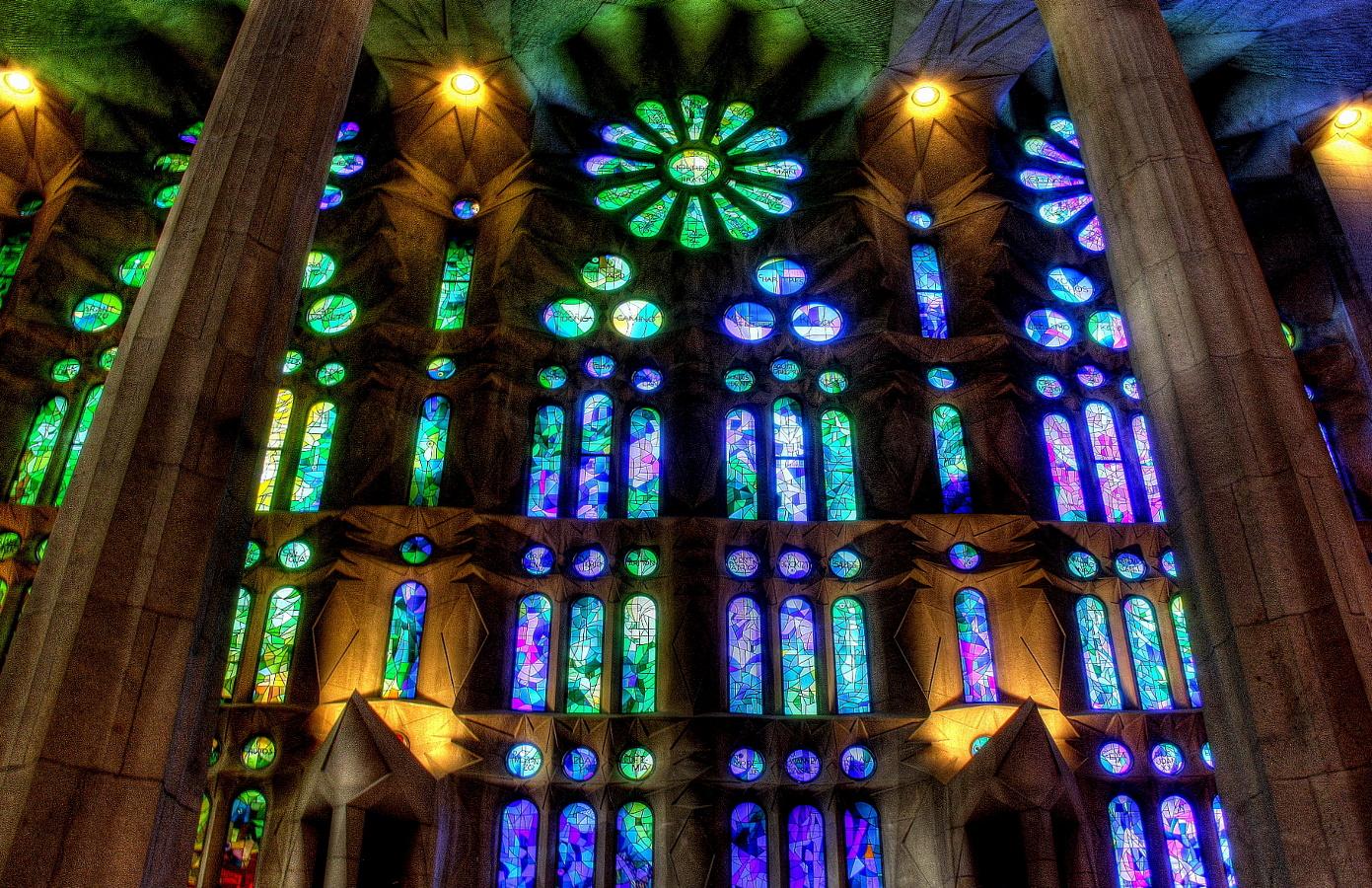 Sagrada - Fenster, blau