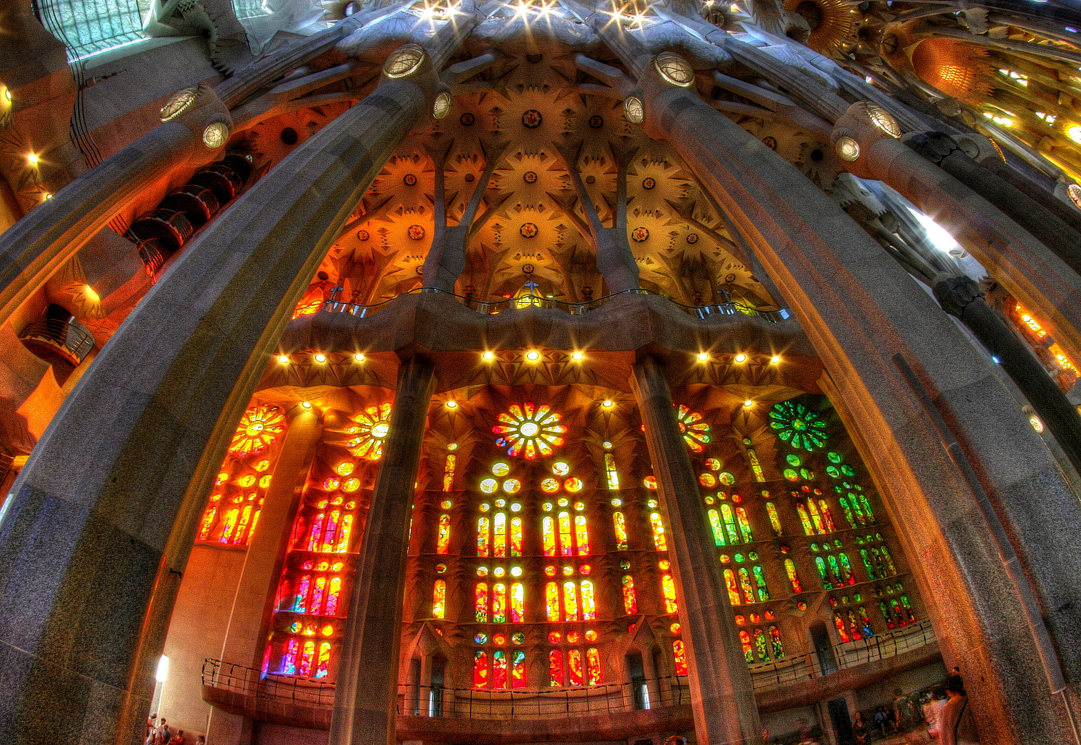 Sagrada - Fenster rot-orange