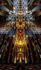 Sagrada ( FishEye-Blick nach oben )