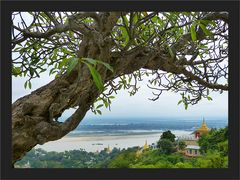 Saigaing Pagode mit Aussicht