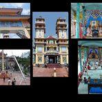 Saigon - eine ungewöhnliche Tempelanlage- Tempel der Cao Dai