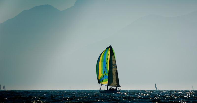 Sailing around Ilhabela island