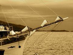 sailing away