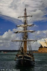 Sailing Ship and the Opera House