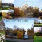 Saint James Park/ St. Jame's Park, London mit London Eye