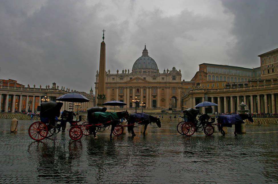 Saint-Pierre de Rome un jour de pluie...