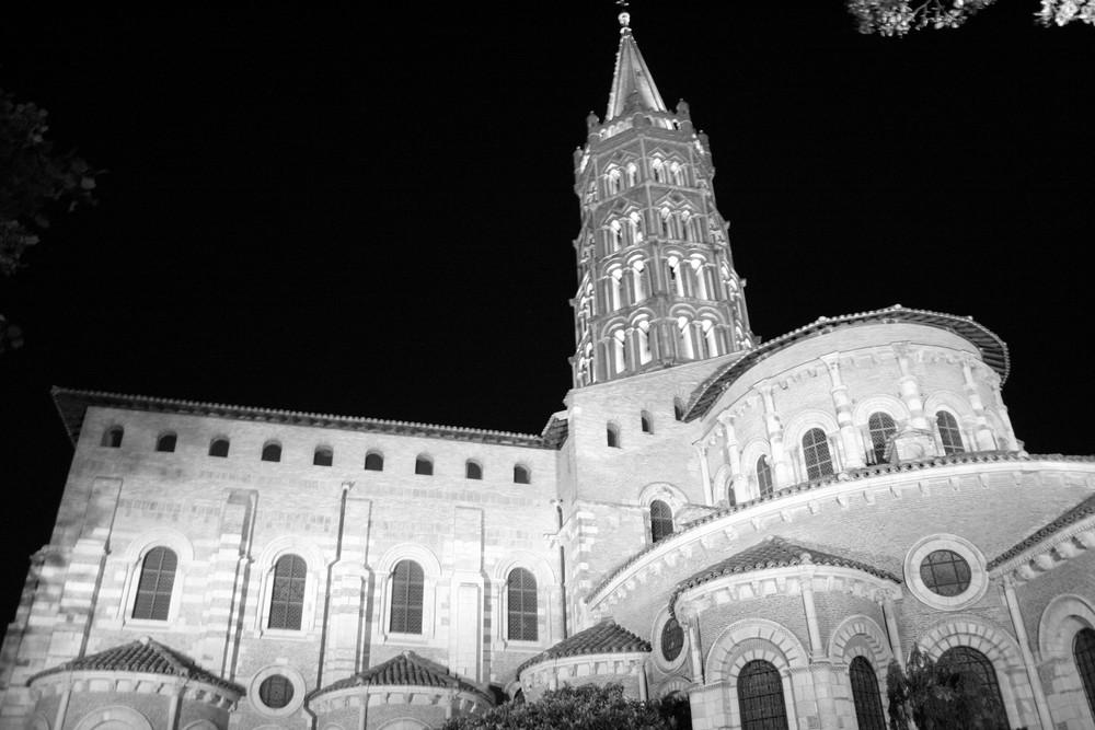 Saint Sernin en noir et blanc