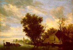 Sal. van Ruysdael Fluß mit Fähre